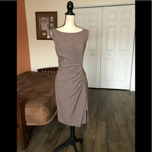 CALVIN KLEIN taupe sleeveless dress